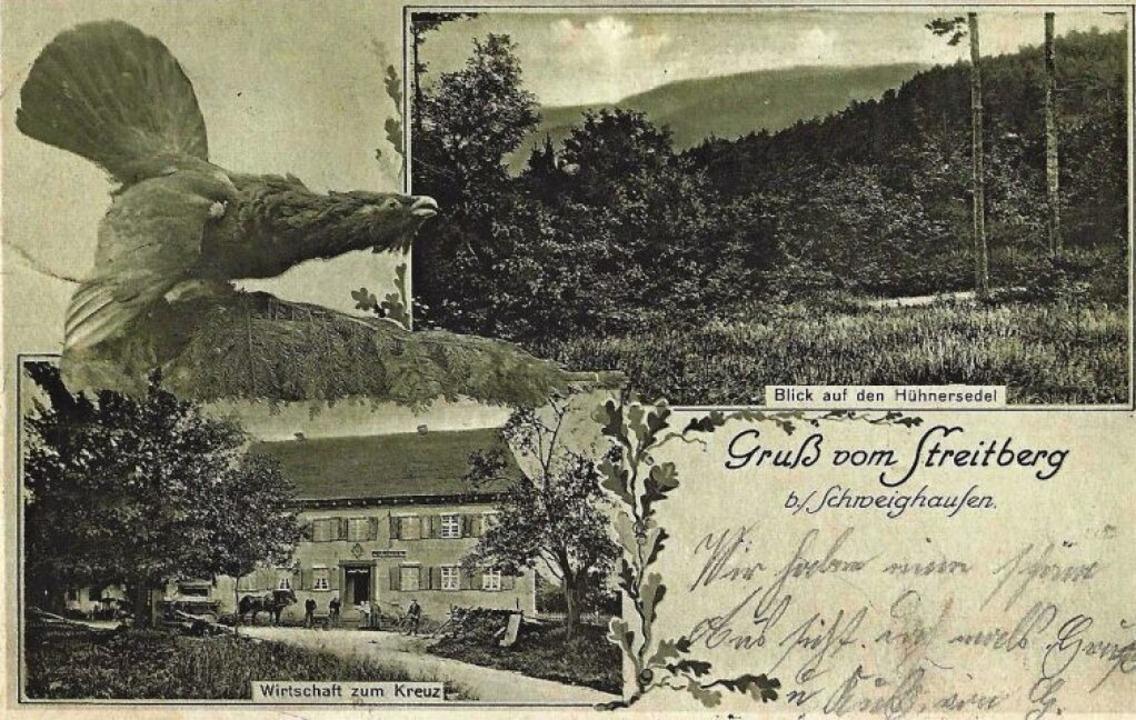 Das Gasthaus Kreuz auf einer Postkarte von 1918  | Foto: Manfred Eble