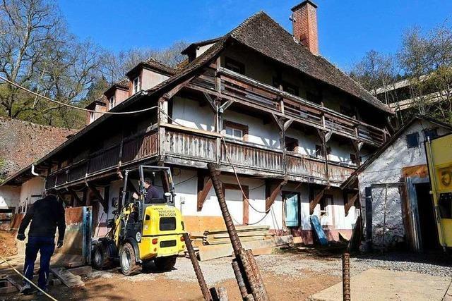 Die Sanierung des Meierhofs in Freiburg läuft – statt des Abrisses
