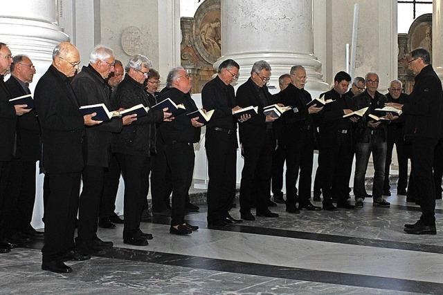 Männerschola singt im Dom St. Blasien