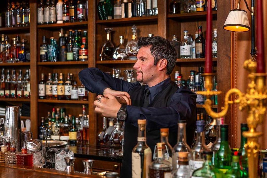 Die Bar Les Trois Rois in Basel    Foto: Privat