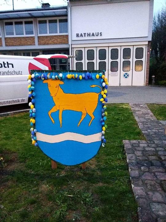 Das Wappen wurde auch aufgestellt.    Foto: Privat