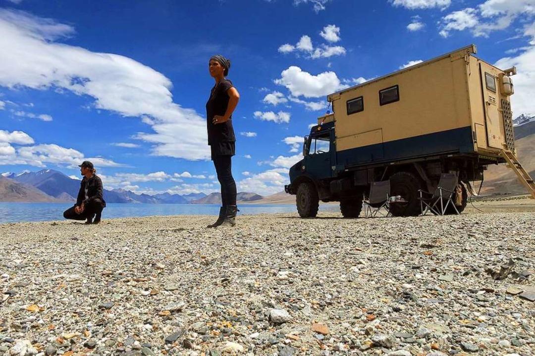 Pause in Ladakh in Indien: Jennifer un...inhalb Jahren durch 34 Länder gereist.  | Foto: Privat