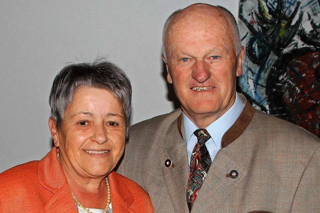 Friedrich und Roswiths Schill feierten ihre goldene Hochzeit.    Foto: Herbert Trogus