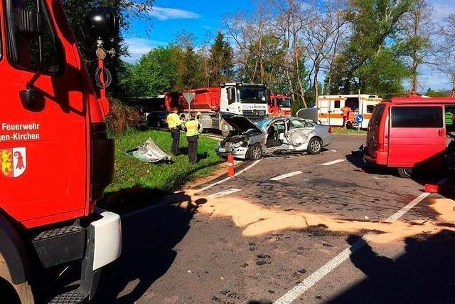 Autofahrer kommt bei Unfall bei Kleinkems ums Leben