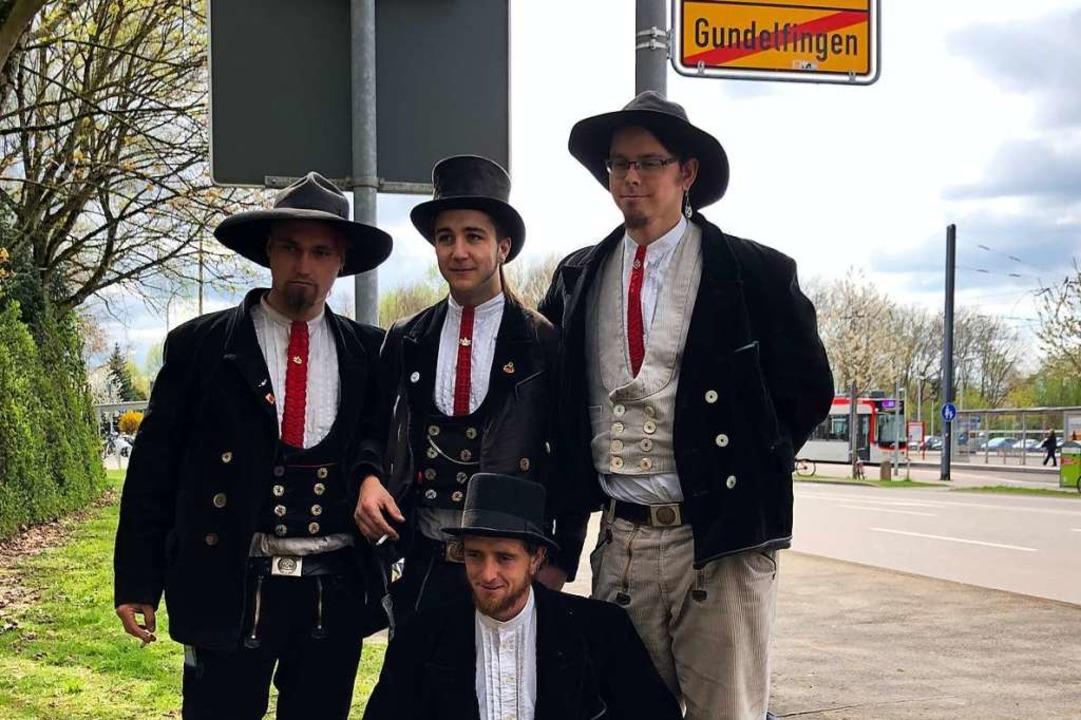 Matthias Riesterer (vorne) aus Gundelf... Bamberg und Julian aus dem Odenwald.     Foto: Andrea Steinhart