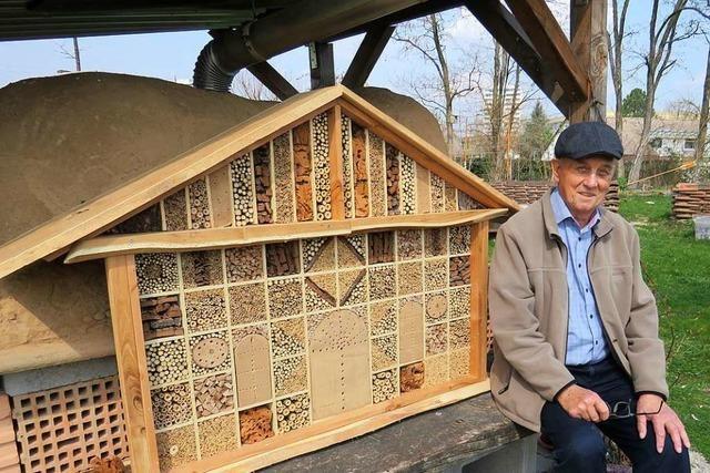 Arnold Thoms hat den Rheinfelder Bienen ein Luxushotel gebaut