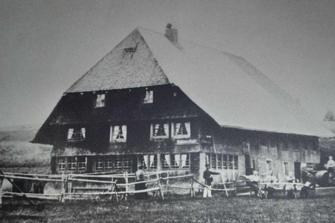 Das Gasthaus  im Jahr 1884  | Foto: Liane Schilling