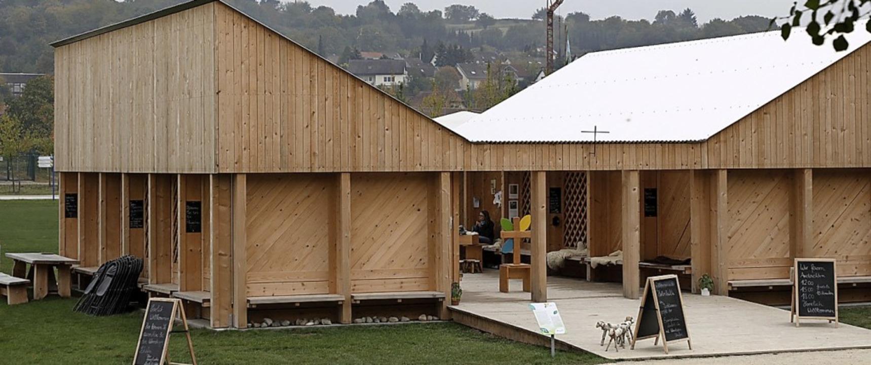 Die Hirtenhütte auf dem Gartenschaugelände  | Foto: christoph breithaupt