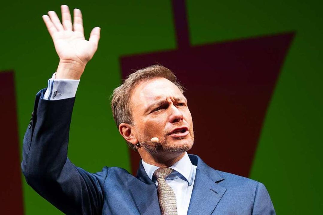 Die FDP ist Lindner, und Lindner ist die FDP, meint Thomas Fricker.  | Foto: dpa