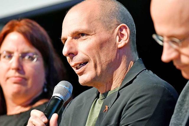 Yanis Varoufakis in Freiburg: Einer, der das Establishment gerne ärgert