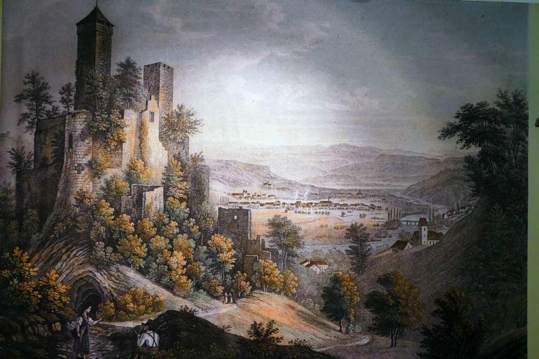 Historischen Abbildungen von der Burg ... sich bei der Tagung im Museum lernen.  | Foto: Sabine Ehrentreich