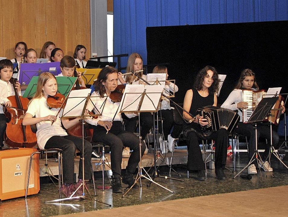 Die Schüler der Musikklassen am Faust-...ten ihr Können und überzeugten dabei.   | Foto: Friederike Zimmermann
