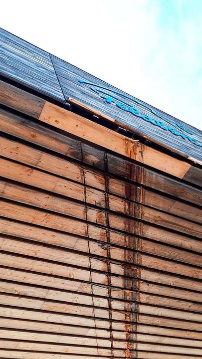 Die ölige Schleifspur  | Foto: Privat