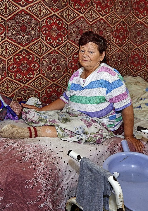 Blind, beide Beine verloren und eigent...e Ukraine-Hilfe vom s'einlädele.