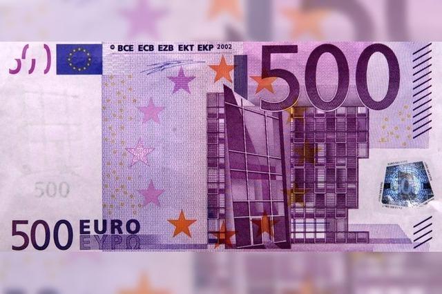 Bye, bye, 500-Euro-Schein