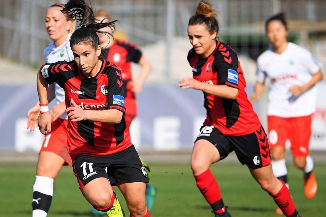 Zum ersten Mal im DFB-Pokalfinale: Die Frauen des SC Freiburg  | Foto: Achim Keller