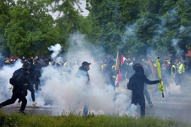 42 Gelbwesten bei Ausschreitungen in Straßburg festgenommen