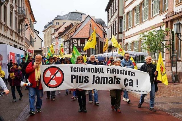 Nur wenige Teilnehmer bei Demonstrationen gegen Akw Fessenheim