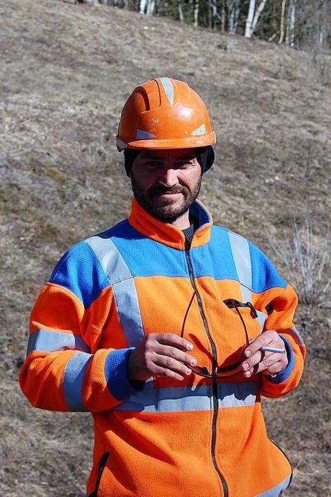 Antonio Leonitti ist einer der italienischen Bahnarbeiter aus Kalabrien.    Foto: Christa Maier