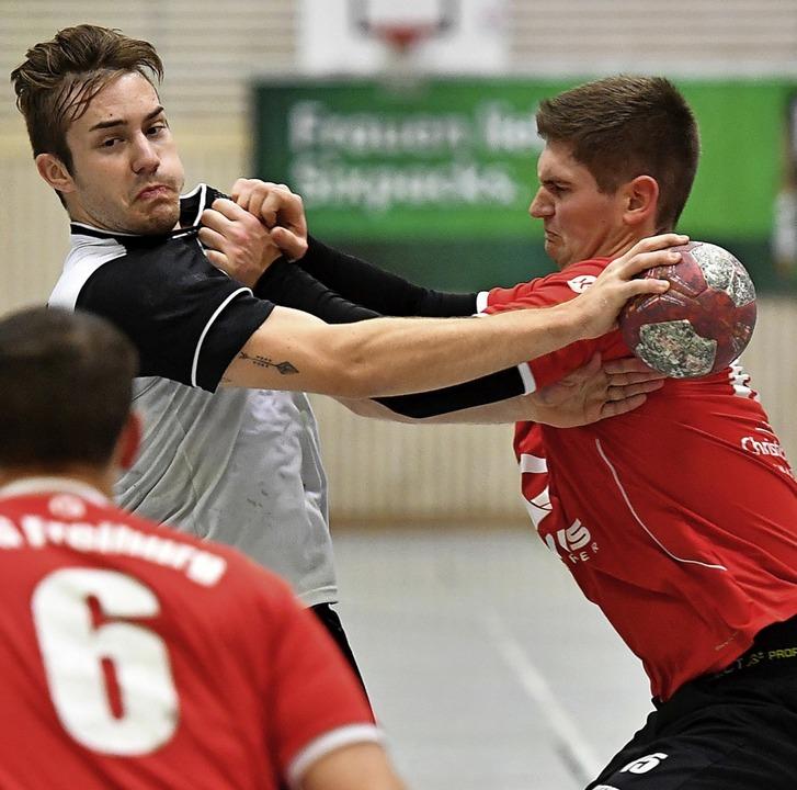 <BZ-FotoAnlauf>Handball:</BZ-FotoAnlau...or er das letzte Heimspiel der Saison.  | Foto: Achim Keller