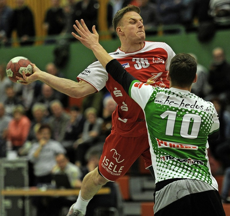 Sven Bechtold erzielte drei Treffer be...g der HSG Ortenau Süd in Elgersweier.   | Foto: Pressebüro Schaller