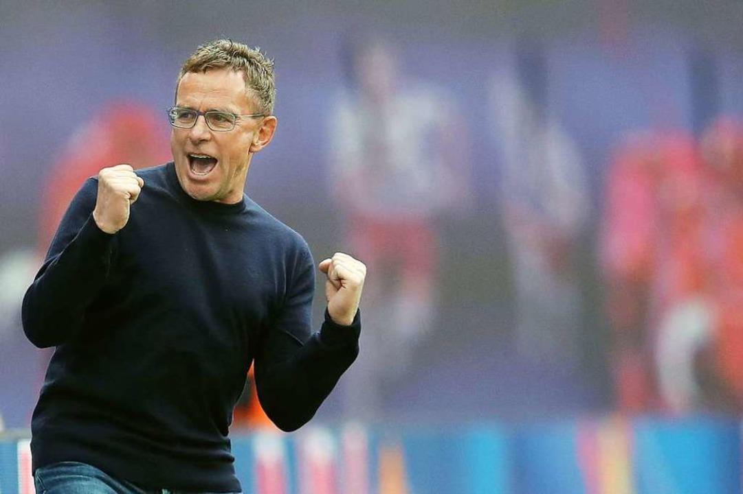 Ziel erreicht: RB-Coach Ralf Rangnick  | Foto: AFP