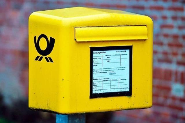Wer Briefe schreibt, muss weit zum Briefkasten laufen