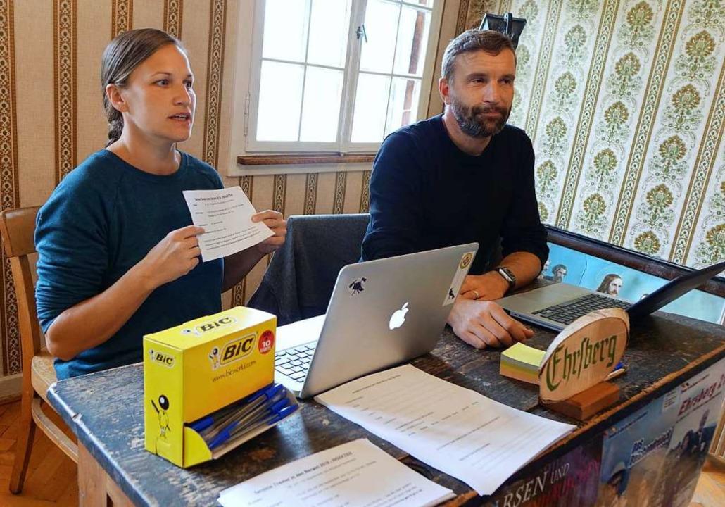 Antonia Tittel und Arnd Heuwinkel vom ... für das Ende Juli die Proben beginnen  | Foto: Roswitha Frey