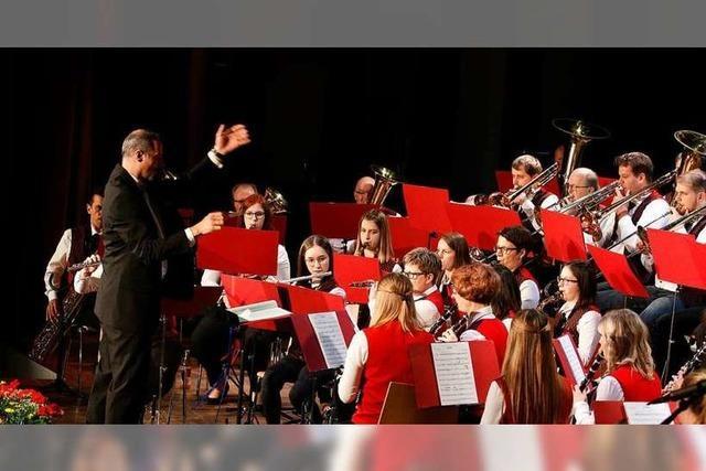 Der Musikverein gab sein Frühjahrskonzert mit einem besonderen Gastauftritt