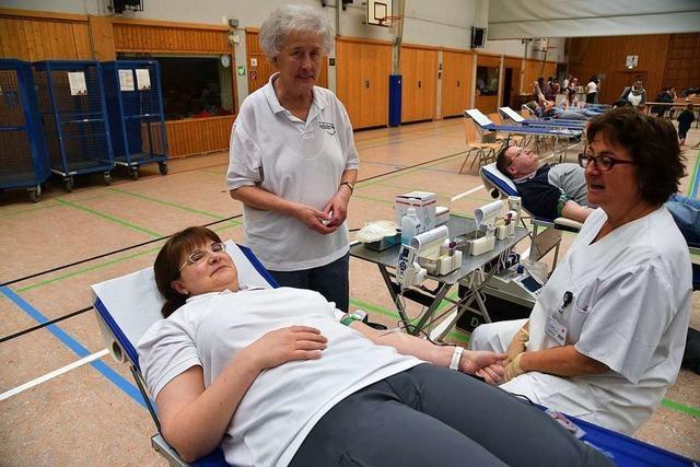 Ohne die Helfer gäbe es die Blutspendenaktion in Grenzach-Wyhlen nicht