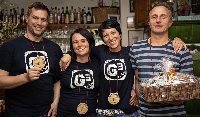 Ehrungen bei der Gundelsteiner Guggenm... für langjährige Treue ausgezeichnet.   | Foto: Wolfgang Scheu