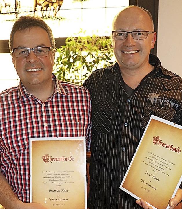 Matthias Kapp und Frank König sind jet...Trachten-Akkordeongruppe Hinterzarten.
