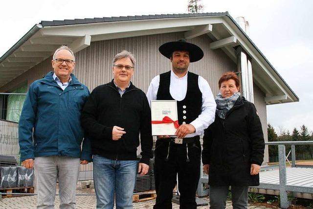 Richtfest fürs Görwihler Archiv