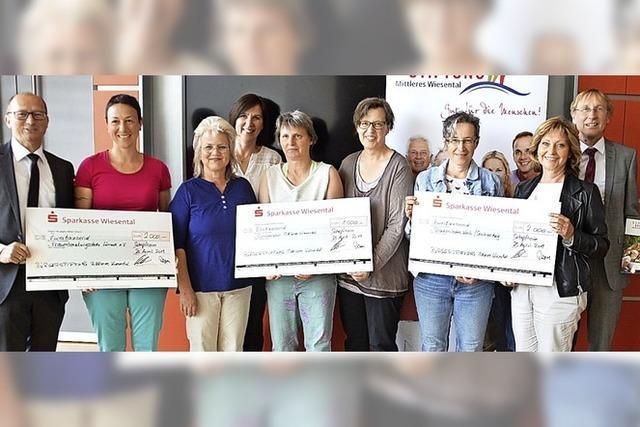 Drei Institutionen mit Spenden bedacht