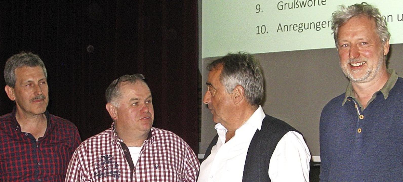 Das  neue Vorstandsteam (v.l.): Hubert...de  Thomas Gerspacher und Martin Bär.   | Foto: Spiegelhalter