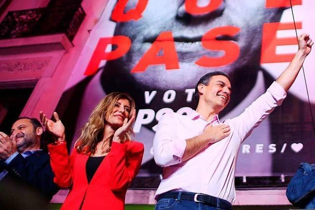 Nur ein knapper Sieg für die spanischen Sozialisten
