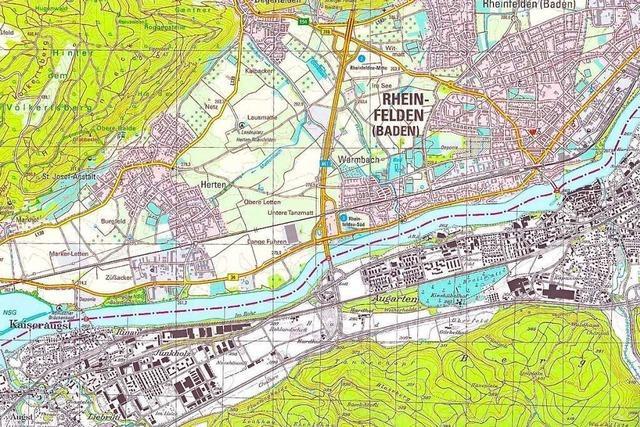Die topographische Karte für Rheinfelden wurde neu aufgelegt