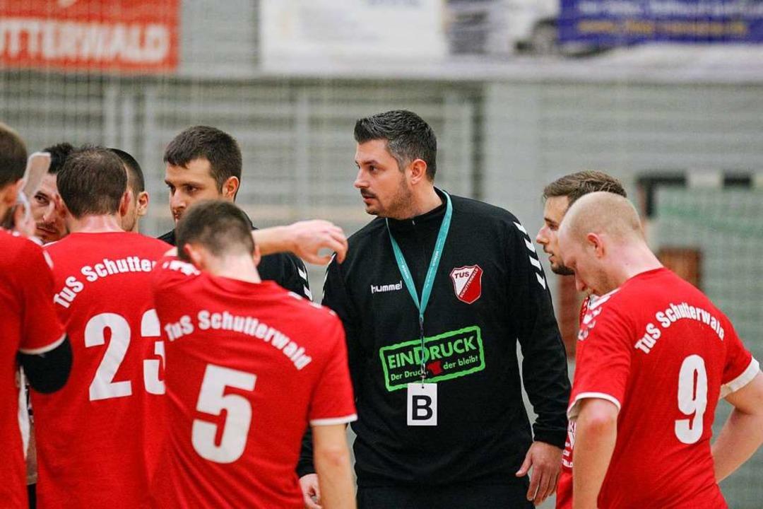 Die Trainer Andreas Wiedenmann (links ...Schutterwald II in die Landesliga auf.  | Foto: Alexandra Buss
