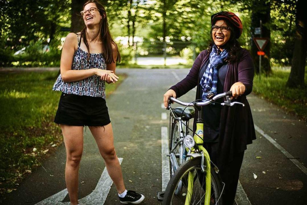 In den Fahrradkursen stehen zehn Train...n und als Hilfestellung zur Verfügung.    Foto: FELIX GROTELOH FOTOGRAFIE