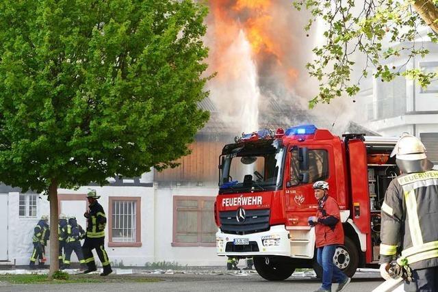 Der Brand bei der Alten Feuerwache in Lörrach ist gelöscht