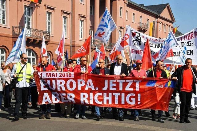 Gewerkschaften rufen zur Stärkung Europas auf
