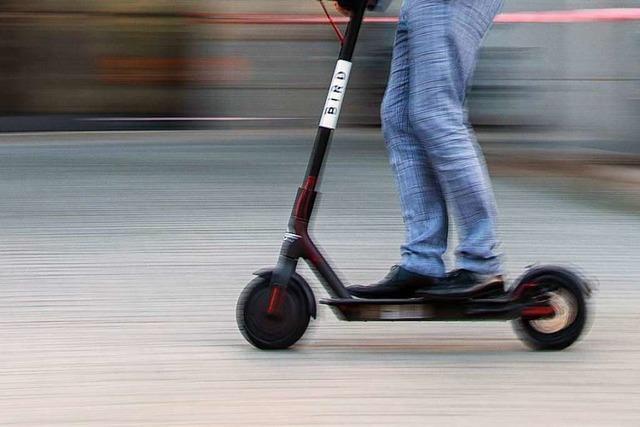 E-Roller sollen auf Radwegen fahren