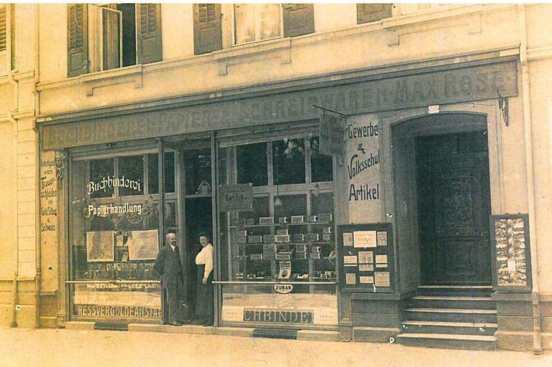 So sah das Geschäft der Familie Rose a...lstraße nach dem ersten Weltkrieg aus.    Foto: Privatarchiv