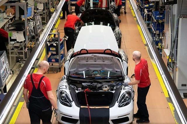 Absatzschwäche bei Porsche drückt auch Umsatz und Ergebnis