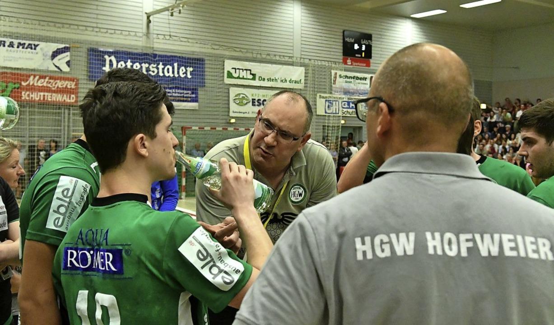 Letzte Anweisungen vor dem Showdown: T...t in der Südbadenliga perfekt machen.     Foto: Wolfgang Künstle
