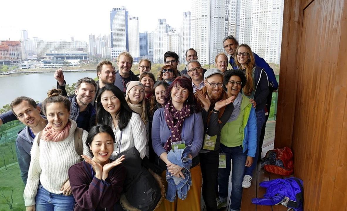 Mitglieder des Freiburger Jazzchors in der südkoreanischen Partnerstadt  | Foto: Privat