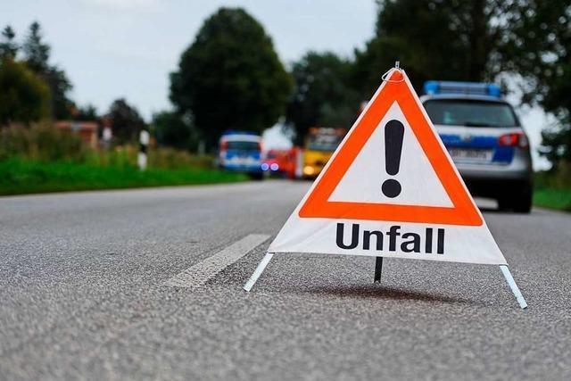 Rheinfelden: Frau wird bei Unfall auf A861 leicht verletzt