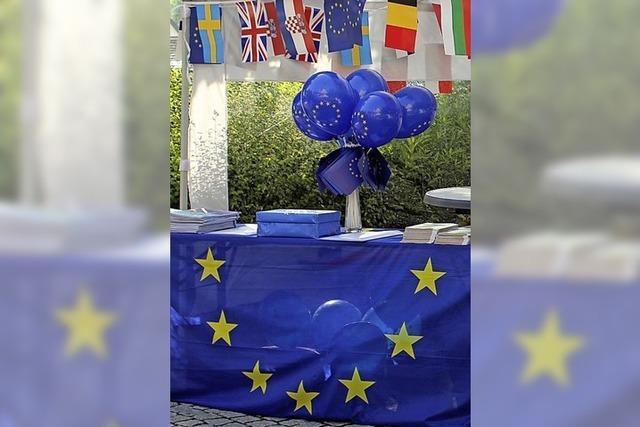 Europafest mit Infos, Quiz und Boule