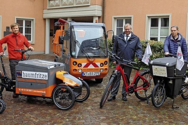 Felix Braasch macht gute Erfahrungen mit dem Lastenfahrrad