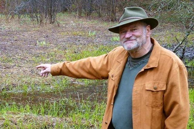 Jörg Brauchle hat Angst um die Zukunft der Schönauer Grasfrösche